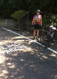 Bikes get premier parking.