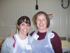 In my hairnet, with Chana Solomon